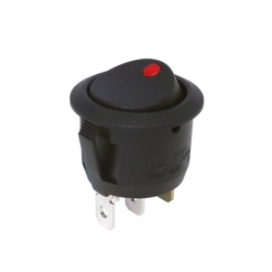 Red 24V Round Rocker Switch