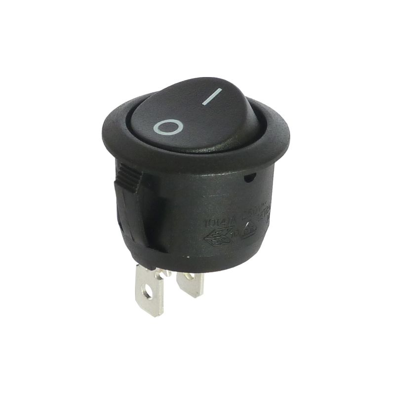 R13 112 Round Rocker Switch Spst On Off From Sci Black 0