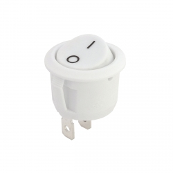White Round Rocker Switch