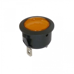 Amber 20mm Indicator Light 12V/24V