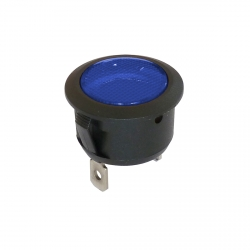 Blue 20mm LED Panel Mount Indicator Light 12V/24V