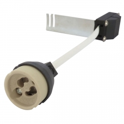 GU10 Lamp Holder with Stirrup Bracket and Heat Resistant Cable