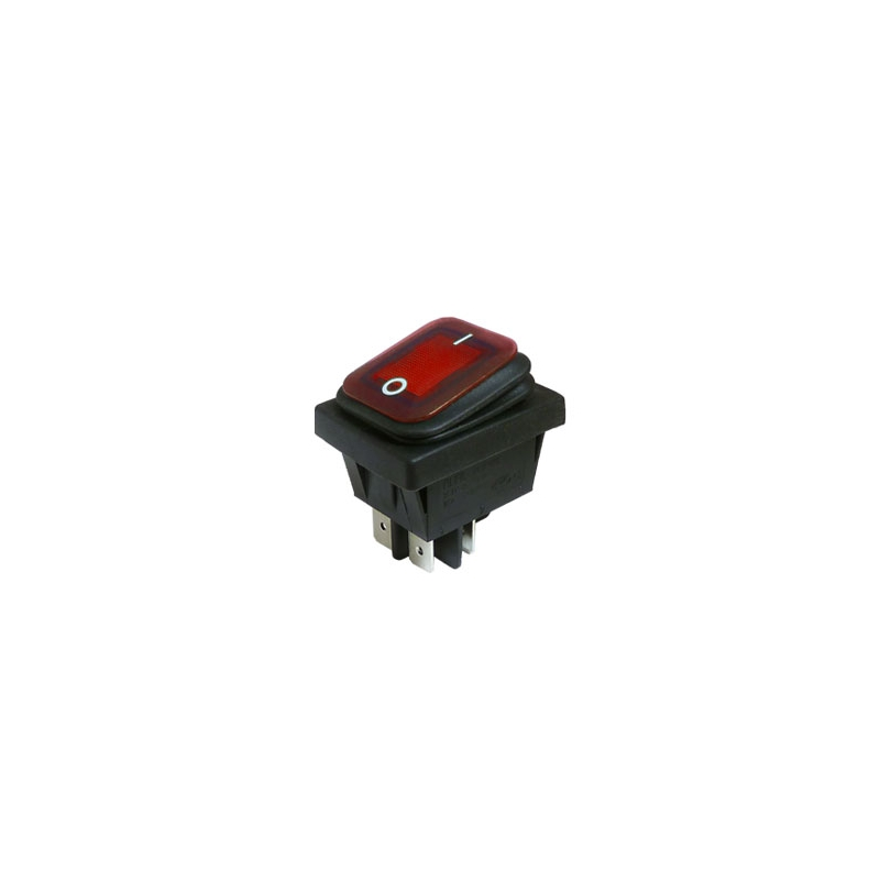 Illuminated Waterproof Rocker Switch, On Off, DPST - IP65