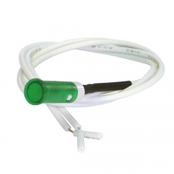 Green 6mm Indicator 240V Leaded
