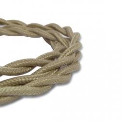 Câble Textile Torsadé Gris - 2 x 0,75mm