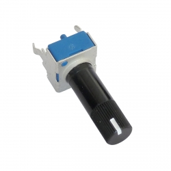 9mm 100K Ohm Logarithmic Rotary Potentiometer with White Line Indicator