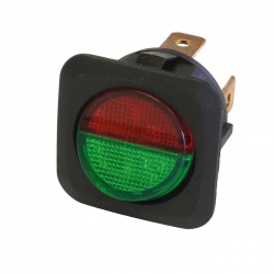 Green and Red 12V Round Rocker Switch