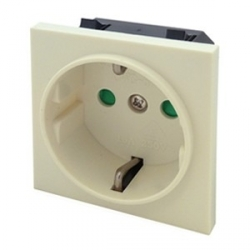 German Schuko Euro Module Socket