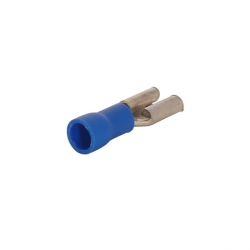 Female Half Insulated Crimp Connector, 6.3mm (100)