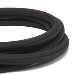 Deep Black Fabric Cable | 3 Core Fabric Flex