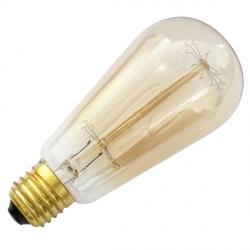 Vintage Light Bulb - 40 Watt E27 Filament, Squirrel Cage
