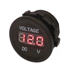 12V-24V Digital Panel Mount Dashboard Voltmeter