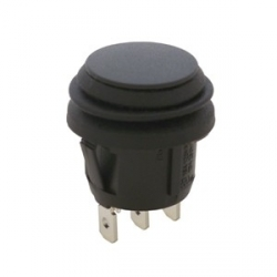 Waterproof Round Rocker Switch, On Off On