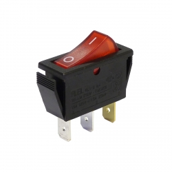 Red Illuminated Single Pole Rocker Switch 240V