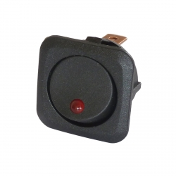 Red 12V Round Rocker Switch