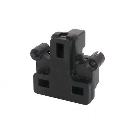 UK BS1363 Screw Mount Socket Black