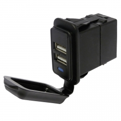 5A Doble Cargador Enchufe USB Impermeable (12/24V)