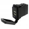 5A Output Waterproof Dual Port USB Socket (12V / 24V Compatible)