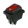 Red Illuminated Double Pole Rocker Switch 240V, IP65