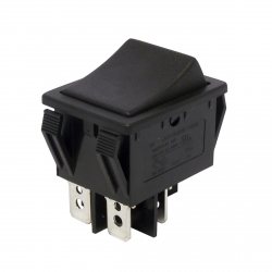 Double Pole Momentary On Off (On) Rocker Switch