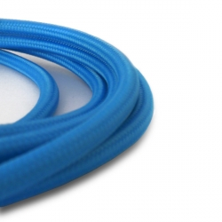 Light Blue Fabric Cable | 2 Core Fabric Flex
