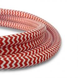 Câble Textile Rouge et Blanc - 2 x 0,75mm