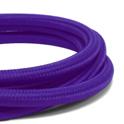 Deep Purple Fabric Cable | 2 Core Fabric Flex