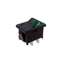 Two Colour Visible On Rocker Switch - Green