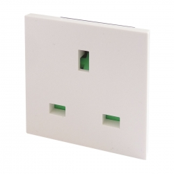 UK BS1363 Euro Module Panel Mount Socket White