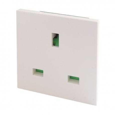 UK BS1363 Euro Module Panel Mount Socket White