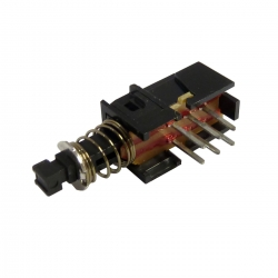 DPDT 2 Pole Momentary Push Button Switch Horizontal