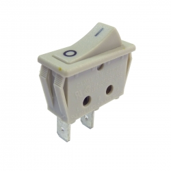 Single Pole On Off Rocker Switch Grey