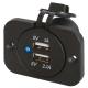 3.1A 12V Waterproof Dual Port USB Socket (12V / 24V Compatible) with Bracket