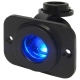 Waterproof 12V and 24V Power Socket with Bracket and Light