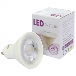 Pack of 10 GU10 5W (40 Watt) LED Halogen Replacement Warm White - Narrow Beam 38º