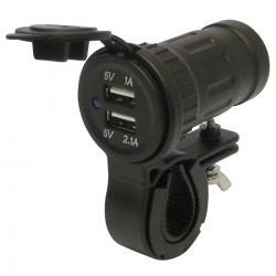 Motorcycle 12V Waterproof USB Charger and Handlebar Mount Kit