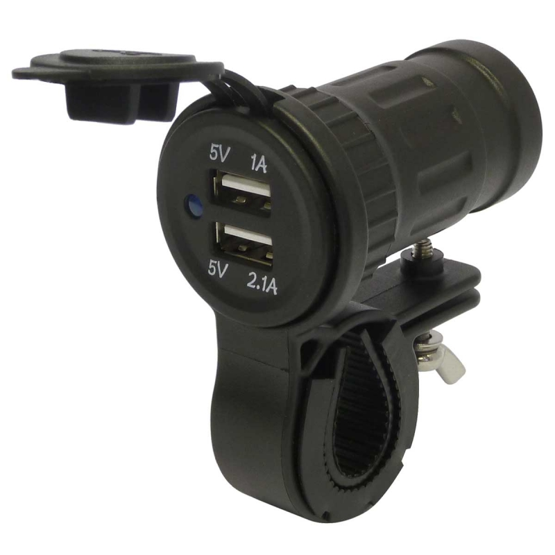 12V //24V Waterproof Motorcycle USB Charger Power Socket Phone Sat Nav Motorbike