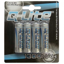 AA Ni-MH Rechargeable Battery 4 Pack 1300mAh