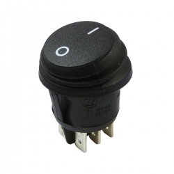 Waterproof Round Rocker Switch, On On Double Pole
