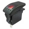 Red Illuminated Single Pole Rocker Switch 12-24V, IP67