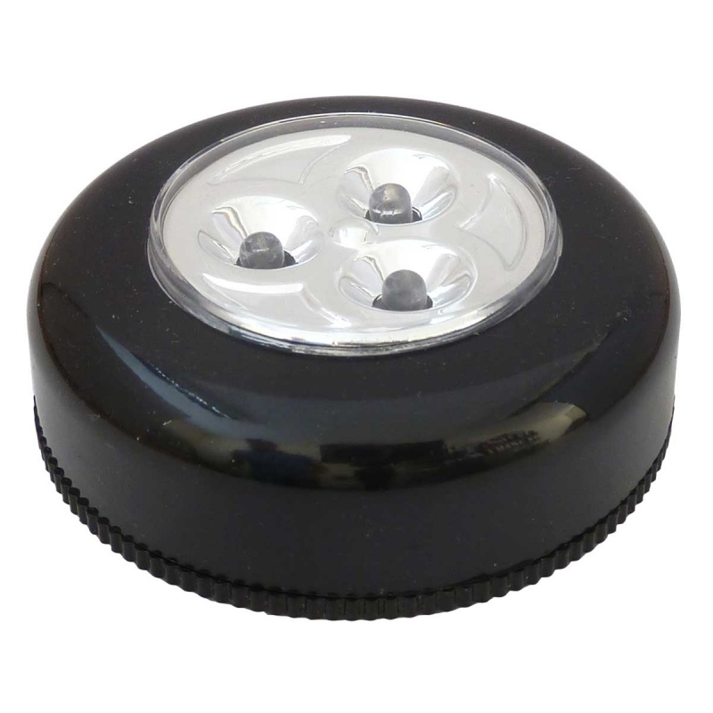 Battery Operated Led Push Light In Black