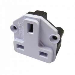 UK BS1363 Screw Mount Socket White