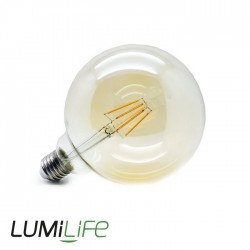 E27 G125 Amber Filament LED Bulb - 6 Watt (50W)