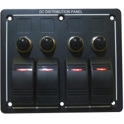 4 Switch Circuit Breaker Weatherproof Marine Switch Panel