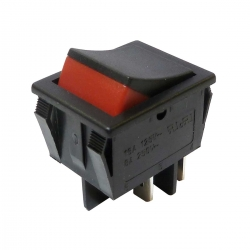 Double Pole On Off Visible On Two Colour Rocker Switch