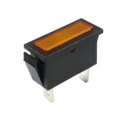 Amber Rectangular Indicator Light 12V