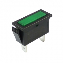 Green Rectangular Indicator Light 12V