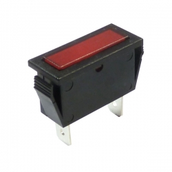 Red Rectangular Indicator Light 12V