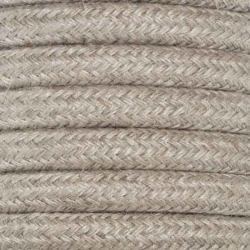Hessian Round Fabric Cable | Fabric Flex