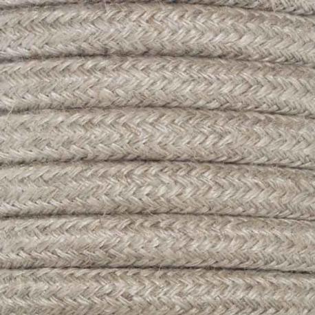 Hessian Round Fabric Cable   Fabric Flex